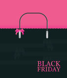 Black Friday Shopping bag sale on pink background. Stock Images