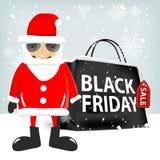 Black friday shopping bag Stock Photography