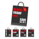 Black Friday shopping bag. Royalty Free Stock Photography