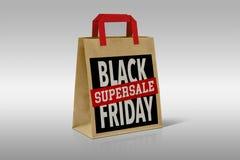 Black Friday Shopping Bag  On White Royalty Free Stock Image