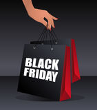 Black friday shopping bag Royalty Free Stock Image