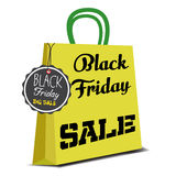 Black Friday shopping bag Royalty Free Stock Photo