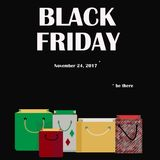 Black Friday Shopping Bags With Date Stock Photos