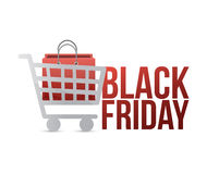 Black friday shopping cart concept Stock Photography
