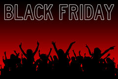 Black friday shopping Stock Images