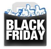 Black Friday shopping gillar Arkivbild