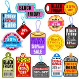 Black Friday Shopping Labels & Tags Stock Photo