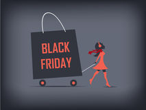 Black Friday shopping poster or flyer. Eps10 Royalty Free Stock Image
