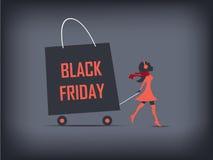 Black Friday shopping poster or flyer. Eps10 stock illustration