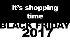 Black Friday shopping sale concept. Illustration of sale date. Stock Images
