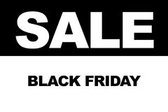 Black Friday shopping sale concept. Illustration of sale date. Stock Photos