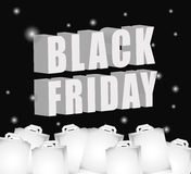 Black friday shopping season Royalty Free Stock Image