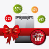 Black friday shopping Royalty Free Stock Photography