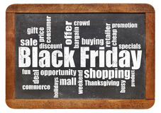 Black Friday shopping. Word cloud Stock Photos