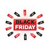 Black friday sign Stock Image