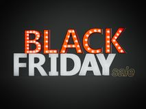 Black friday sign. 3d rendering Stock Photos