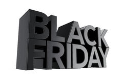 Black Friday Sign. 3d Rendering Stock Image