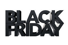 Black Friday Sign. 3d Rendering Stock Images