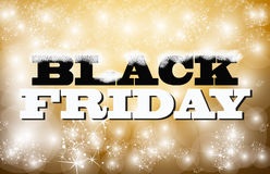 Black friday sign gold and glitter Stock Photography