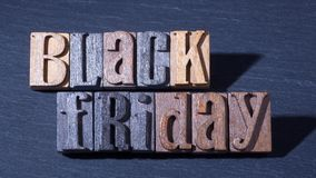 Black Friday Sign. Black friday text on a black background Stock Photography
