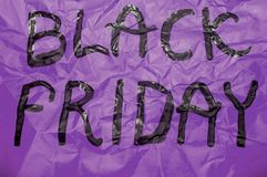 Black Friday Sign Royalty Free Stock Photo