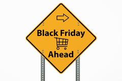 Black Friday Sign On White Background. With Clipping Path Stock Photos