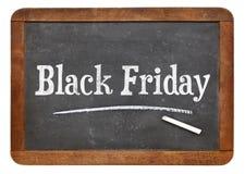 Black Friday - sinal do quadro-negro do vintage imagens de stock