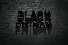 Black Friday on slate background Royalty Free Stock Photography