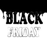 Black friday with smudges on a white background. Vector illustration Stock Photo