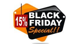 Black Friday Special Discount 15 Percent. Logo Design Template Vector vector illustration