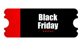 Special event ticket. Black Friday special event ticket, movie night Stock Photos