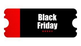 Special event ticket. Black Friday special event ticket, movie night Vector Illustration