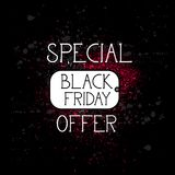 Black Friday Special Offer For Shopping Lago, Big Promotion And Discounts Icon stock illustration
