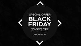 Black Friday Shopping Discount Sale Animation stock footage