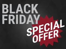 Black friday special offer,wording on black background Stock Photography