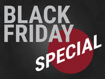 Black friday special,wording on black background Stock Photos