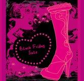 Black Friday - sprzedaż buty Fotografia Royalty Free