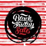 Black Friday sprzedaży handmade literowanie, kaligrafii tło dla loga, sztandary, etykietki, odznaki, druki, plakaty, sieć Zdjęcia Stock