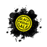 Black Friday sprzedaży kleksa ikona Biały tło Zdjęcia Royalty Free