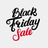 Black Friday sprzedaży ręka pisać literowanie Zdjęcie Royalty Free