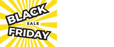 Black Friday sprzedaży sztandar z kopii przestrzenią dla teksta royalty ilustracja