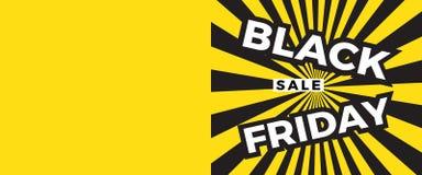 Black Friday sprzedaży sztandar z kopii przestrzenią dla teksta ilustracja wektor