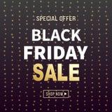 Black Friday sprzedaży sztandaru tło Obrazy Stock