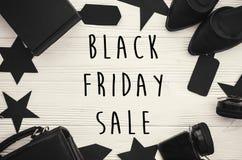 Black Friday sprzedaży teksta duży znak, minimalistic mieszkanie nieatutowy special zdjęcia royalty free
