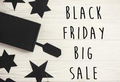 Black Friday sprzedaży teksta duży znak, minimalistic mieszkanie nieatutowy special zdjęcie royalty free