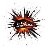 Black Friday sprzedaży wybuchu czerwona gwiazda royalty ilustracja