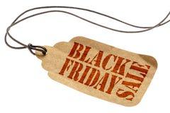 Black Friday sprzedaży znak na papierowej metce zdjęcie royalty free