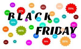 Black Friday sprzedaże, odsetki i kolory - mnóstwo, royalty ilustracja
