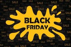 Black Friday sprzedaży czerni etykietka, round sztandar, reklama, ilustracja Obraz Stock