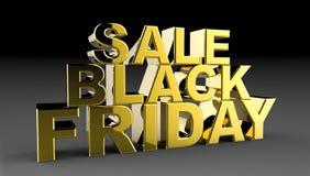 Black Friday sprzedaży 3D ilustracja Obrazy Royalty Free